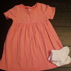 Peach Soft Baby Dress